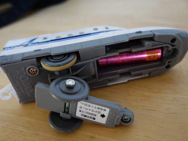 単3電池のプラレール車両