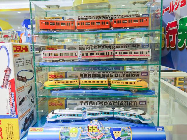 プラレールショップ大阪にある電車