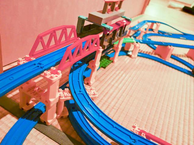 プラレールレイアウト 鉄橋
