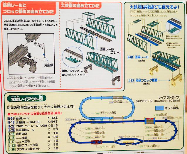 高架レールと大鉄橋セットの応用レイアウト