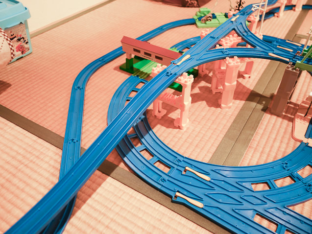 3歳半の息子が作った複雑で巨大なレイアウト
