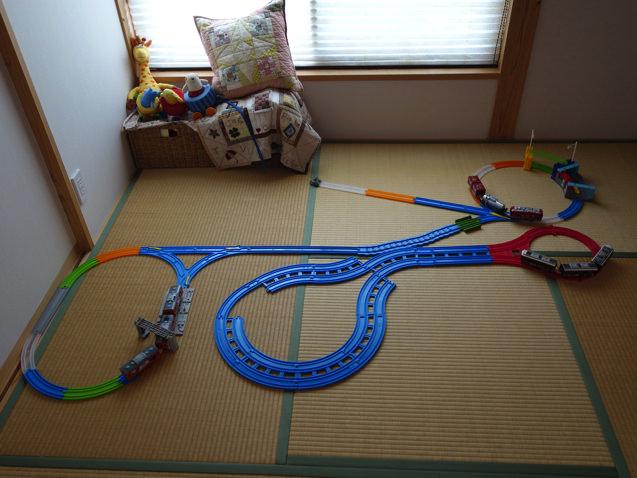 3歳10ヶ月の息子が自分で作った複雑そうに見えるレイアウト