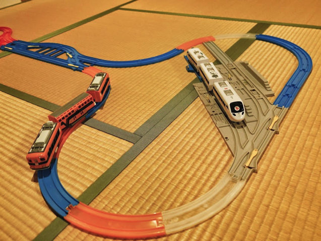 Uターンレールと車両基地のレイアウト